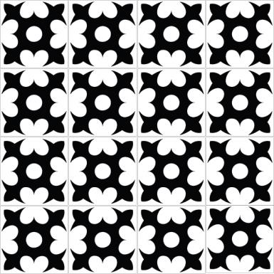 azulejos 051 black