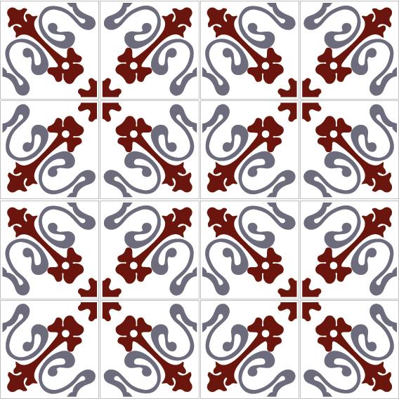 azulejos 132 6B6B7B
