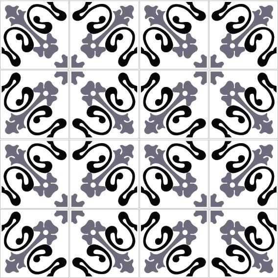 azulejos 132 black