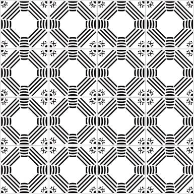 azulejos 175 multi black