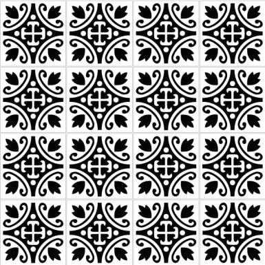 azulejos 182 black