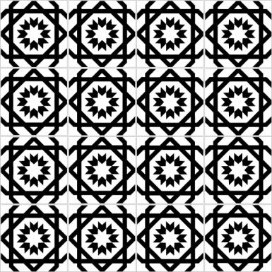 azulejos 013 multi black