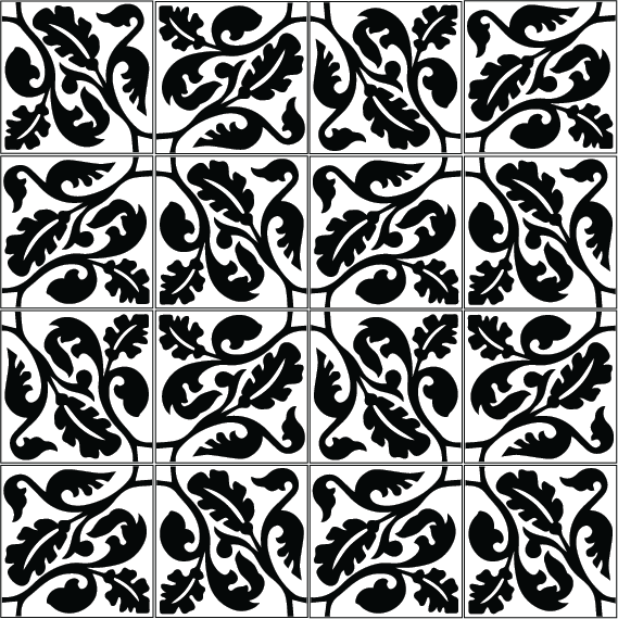 azulejos 041 multi black