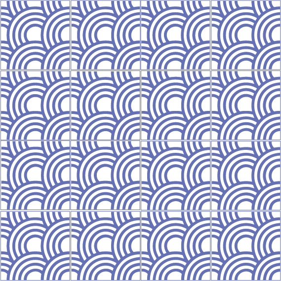 japońska fala seigaiha multi 6670B4
