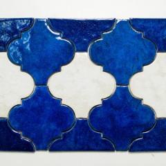 JumaTile płytki arabeska niebieska, biała-2