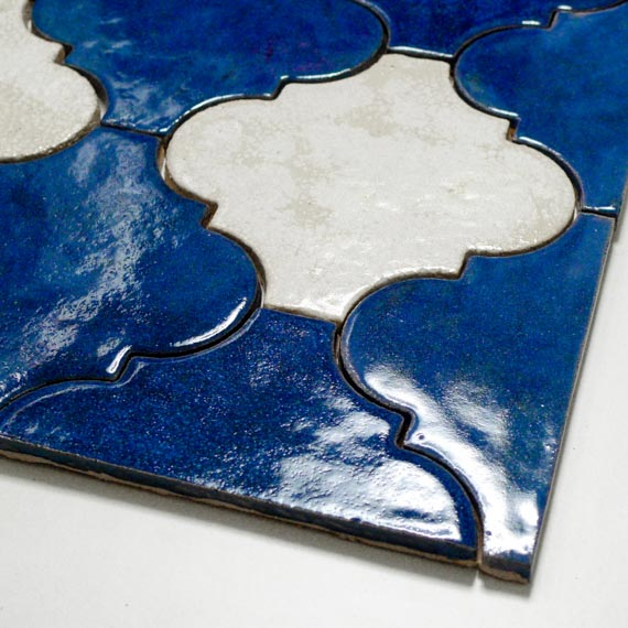 JumaTile płytki arabeska niebieska, biała-3