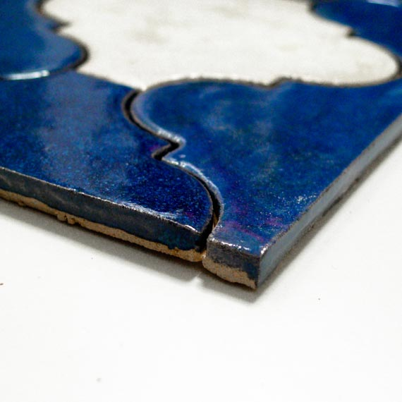 JumaTile płytki arabeska niebieska, biała-4