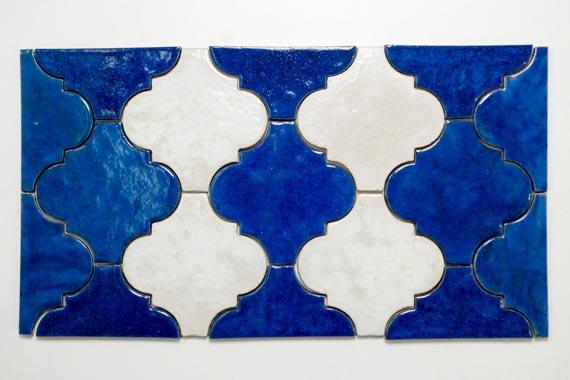 JumaTile płytki arabeska niebieska, biała-5